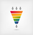 rainbow color marketing funnel vector image vector image