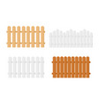 realistic detailed 3d wood fence set vector image vector image