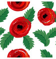 seamless background with red poppies vector image vector image