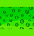 seamless colorful background with currency signs vector image