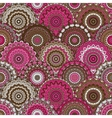 seamless round pattern for printing on fabric vector image vector image