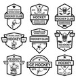 set hockey club emblems design element vector image vector image