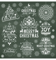 Set of Christmas calligraphic design elements vector image