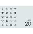 Set of drone icons vector image