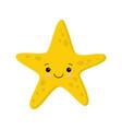 smiling cute starfish flat style kawaii vector image