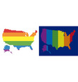 spectrum pixel dotted usa with alaska map vector image