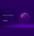sphere shield protect in abstract style virus vector image