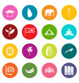 sri lanka travel icons many colors set vector image vector image