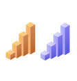 Statistics graph chat isometric object for