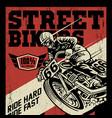 street bikers vector image vector image