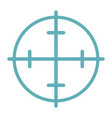 target aim flat line icon isolated on white vector image vector image