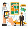 Taxi Service Conceptual vector image vector image