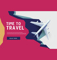 time to travel vacation trip offer concept vector image vector image