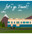 travel banner travel train time to travel vector image vector image