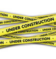 Under construction tape background vector image vector image