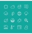 Weather Icons Set Clouds Sky or Wind and vector image