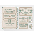 Wedding invitation sets for in a rope theme vector image vector image