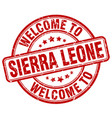 Welcome to sierra leone red round vintage stamp vector image