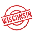 Wisconsin rubber stamp vector image