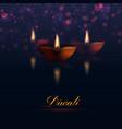 Happy Diwali traditional holiday vector image