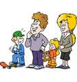 cartoon of a happy family vector image