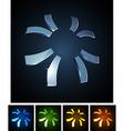 3d sun emblems vector image vector image
