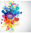 abstract colored background with shapes vector image vector image