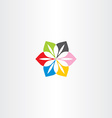 abstract flower colorful business icon logo vector image
