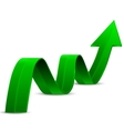 Abstract Green Arrow Up vector image