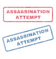 assassination attempt textile stamps vector image vector image
