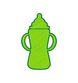 baby bottle sign lemon scribble icon on vector image vector image
