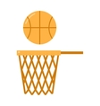 basketball ball net vector image vector image