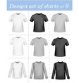 black and white men polo shirt vector image vector image