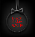 black friday round sale background vector image vector image
