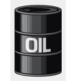 Black oil barrel vector image