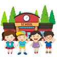 Boys and girls at school vector image