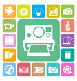 camera and video icons set vector image
