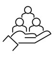 care collaboration icon outline style vector image vector image
