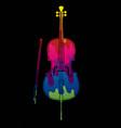 cello instrument cartoon music graphic vector image