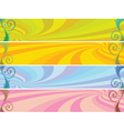colored headers vector image