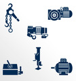 Different types of lifting devices vector image vector image