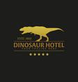 dinosaur hotel logo and emblem logo vector image
