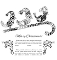 Doodle textured Christmas vector image vector image
