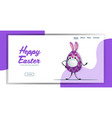 egg with rabbit ears in medical mask happy easter vector image