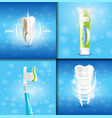 extra whitening toothpaste healthy teeth concept vector image