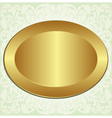 gold oval with ornaments vector image