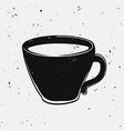 grunge a coffee cup modern hipster style vector image vector image