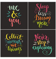 handdrawn quotes collection vector image