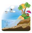 Happy Girl on Island3 vector image vector image
