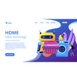 home robot technology concept landing page vector image vector image